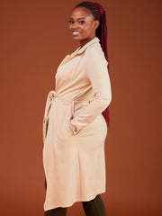 Safari Basic Trench Coat - Buttermilk