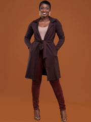 Safari Basic Trench Coat - Chocolate