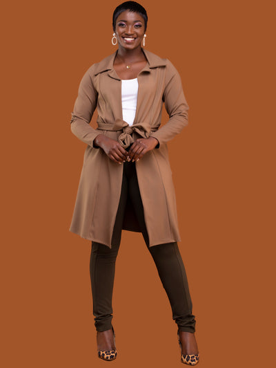 Safari Basic Trench Coat - Taupe