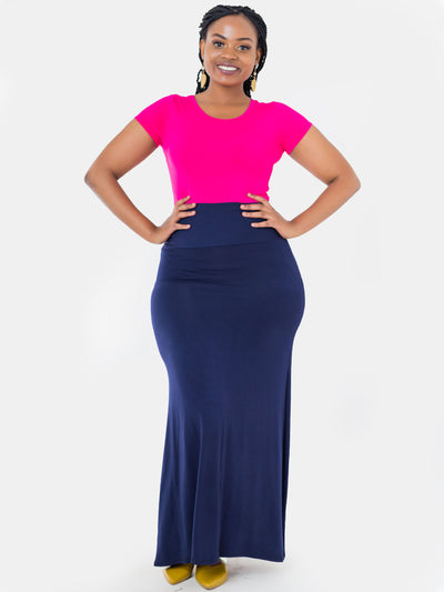 Vivo A Line Maxi Skirt - Navy Blue