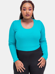 Vivo Basic Long Sleeved Bodysuit - Sea Green - Shop Zetu