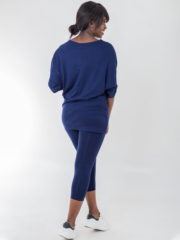 Vivo Capri Leggings - Navy Blue