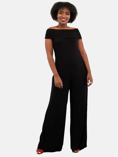 Vivo Dada Off Shoulder Jumpsuit - Black