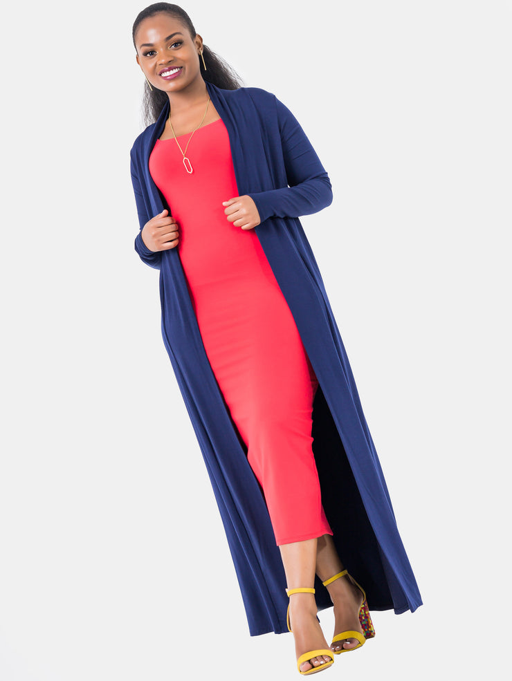Vivo Extra Long Lily Waterfall - Navy Blue