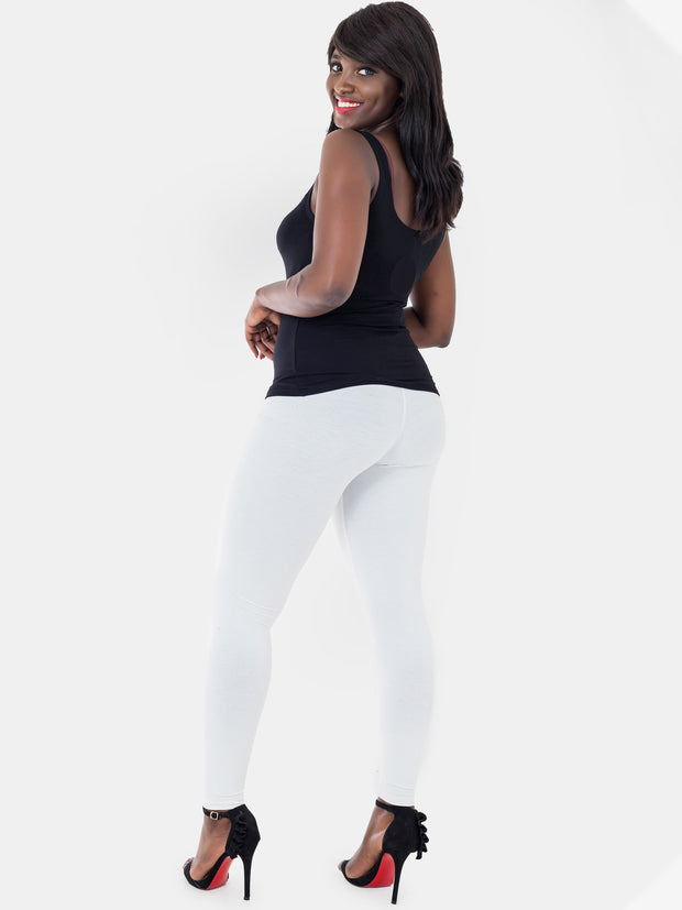 Vivo Full Length Leggings - Off White