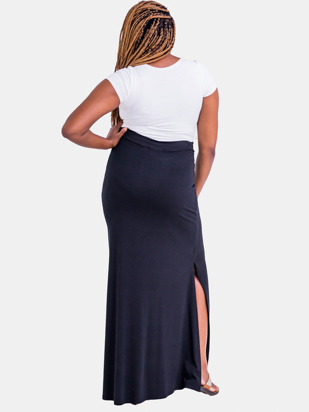 Vivo Jade Maxi Skirt - Black