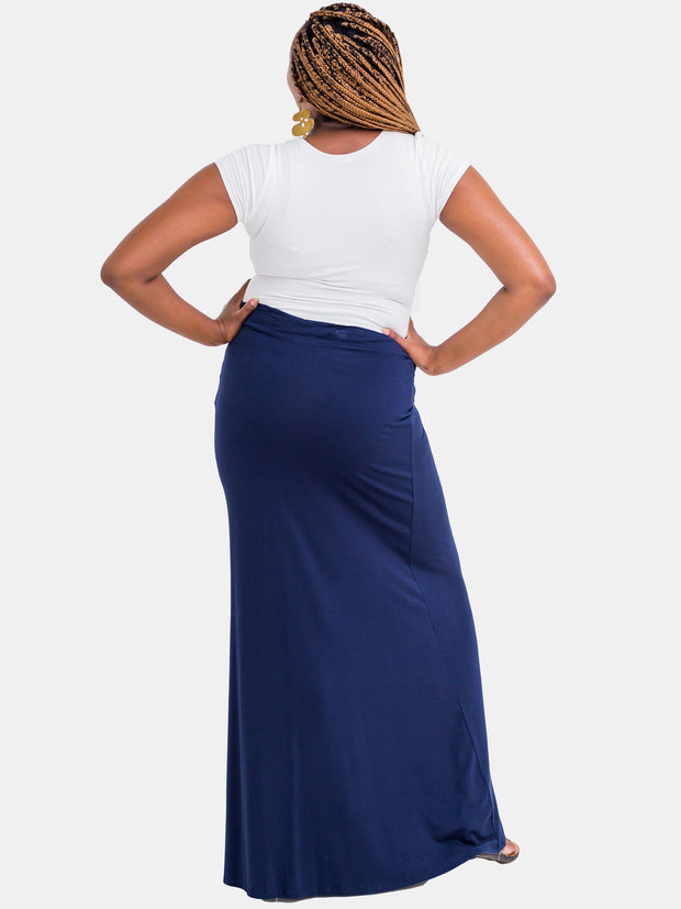 Vivo Jade Maxi Skirt - Navy Blue