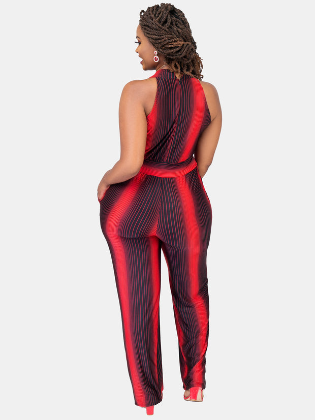 Vivo Joelle Jumpsuit - Red Print