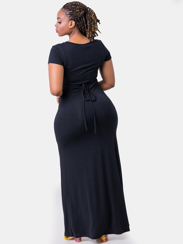 Vivo Lindsey Faux Wrap Maxi Dress - Black