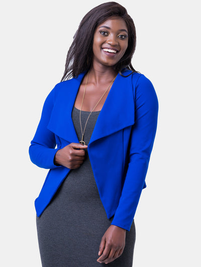 Vivo Savannah Shawl Jacket -  Royal Blue