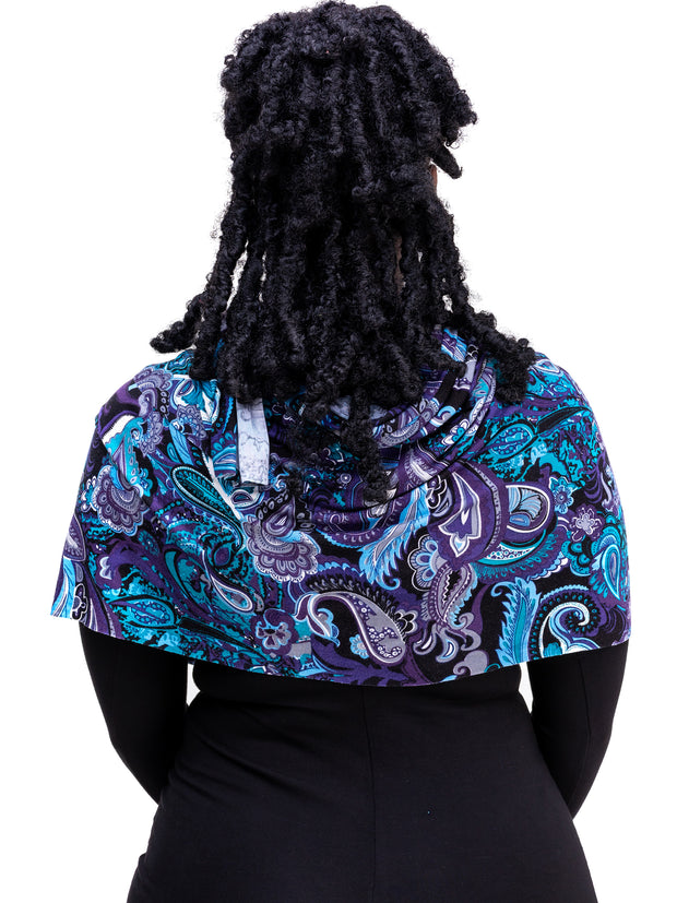 Vivo Basic Scarf - Blue & Black Print