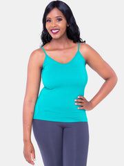 Vivo Spaghetti Tank Top - Sea Green - Shop Zetu