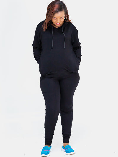 Sowairina Lea Joggers (Tall) - Black - Shop Zetu