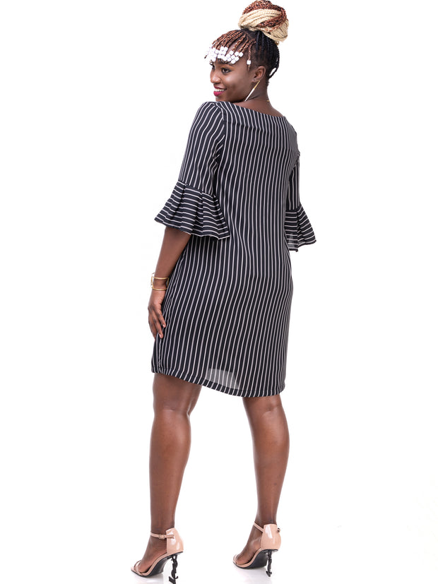 Vivo Zawadi Dress - Black Print
