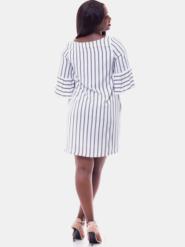 Vivo Zawadi Dress - White Print