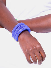 Kawira Tausi Bracelet - Purple - Shop Zetu