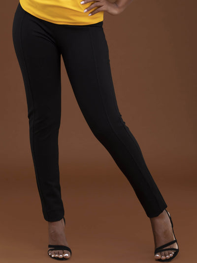 Vivo Basic Panelled Leisure Pants - Black