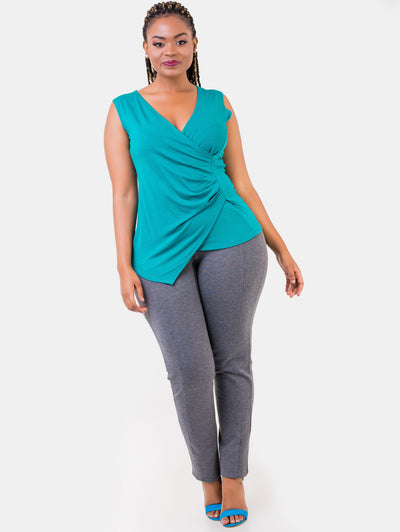 Vivo Grey  Panelled Leisure Pants