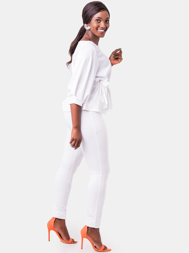 Vivo Panelled Leisure Pants - Off White