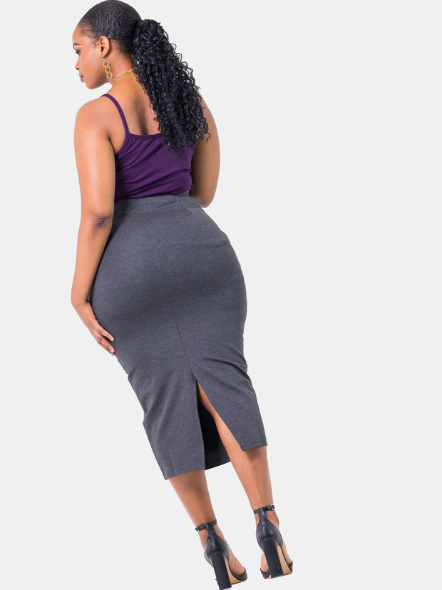 Vivo Midi Pencil Skirt - Grey