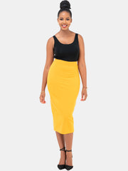 Vivo Midi Pencil Skirt - Mustard
