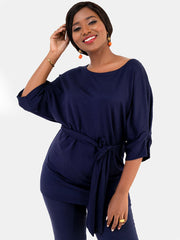 Vivo Abby Loose Top - Navy Blue