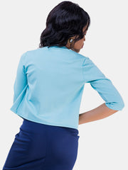 Vivo Basic 3/4 Sleeved JK Jacket - Blue
