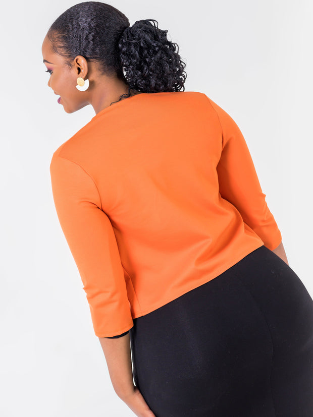 Vivo Basic 3/4 Sleeved JK Jacket -  Rust