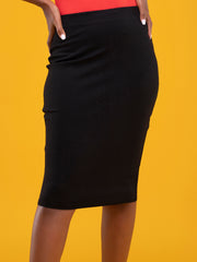 Vivo Basic Pencil Skirt - Black