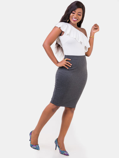 Vivo Basic Pencil Skirt - Dark Grey