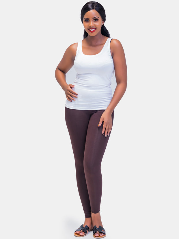 Vivo Full Length Leggings - Brown