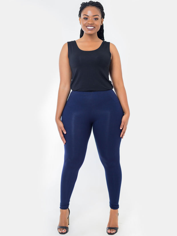 Vivo Full Length Leggings - Navy Blue