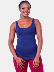Vivo Basic Tank Tops - Navy Blue - Shop Zetu