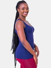 Vivo Basic Tank Tops - Navy Blue
