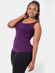Vivo Basic Tank Tops - Dark Purple - Shop Zetu