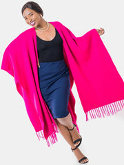 Vivo Double Layered Wrap Poncho - Pink