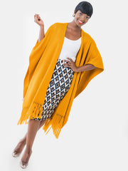 Vivo D. Layered Wrap Poncho - VivoWoman