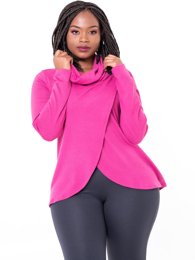 Vivo Tulip Sweater - Fuschia - Shop Zetu