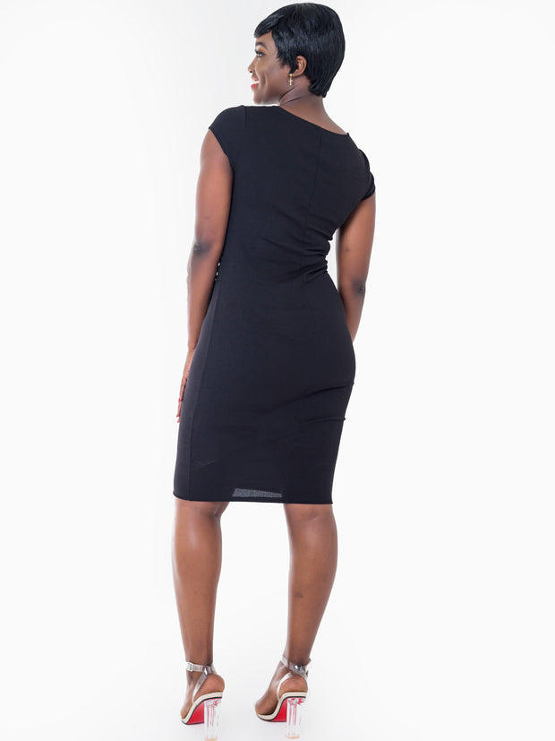 Vivo Escape Sheath Dress - Black