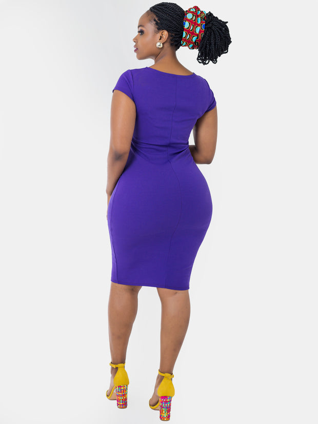 Vivo Escape Sheath Dress - Purple