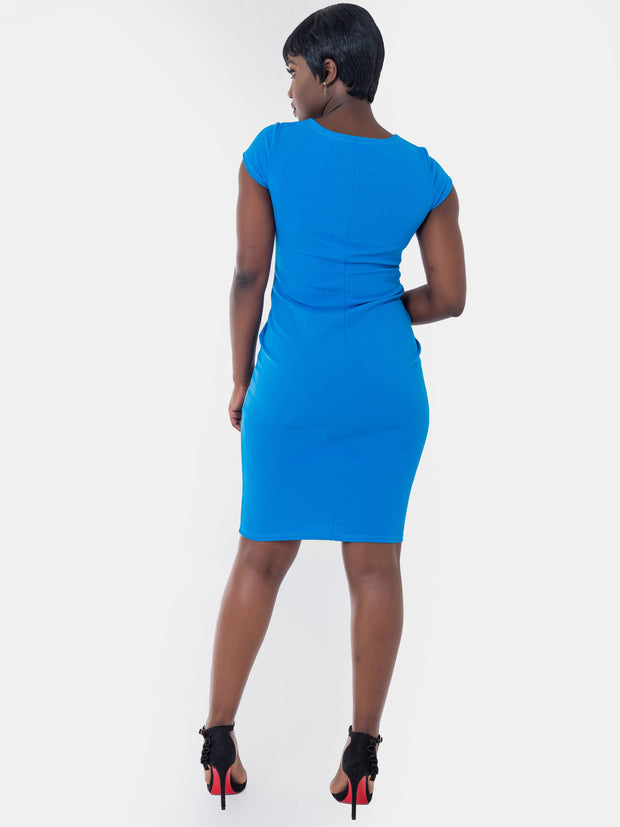 Vivo Escape Sheath Dress - Blue