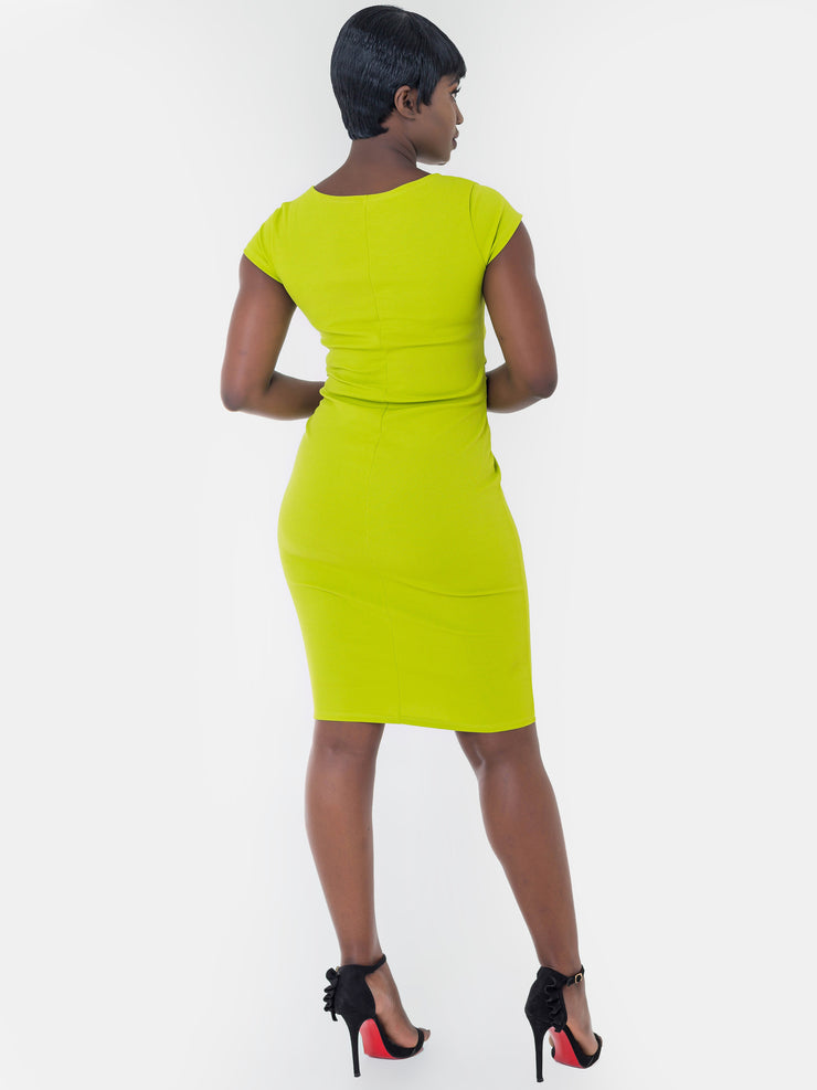 Vivo Escape Sheath Dress - Green