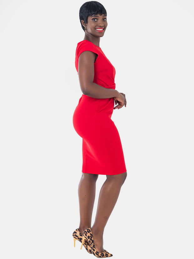 Vivo Escape Sheath Dress - Red