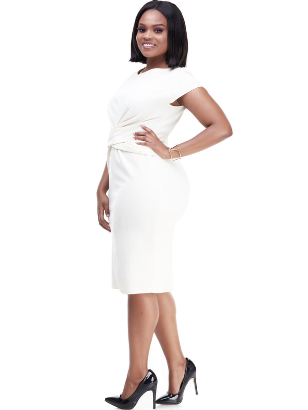 Vivo Escape Sheath Dress - White