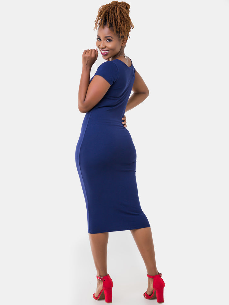 Vivo Leila Dress - Navy Blue