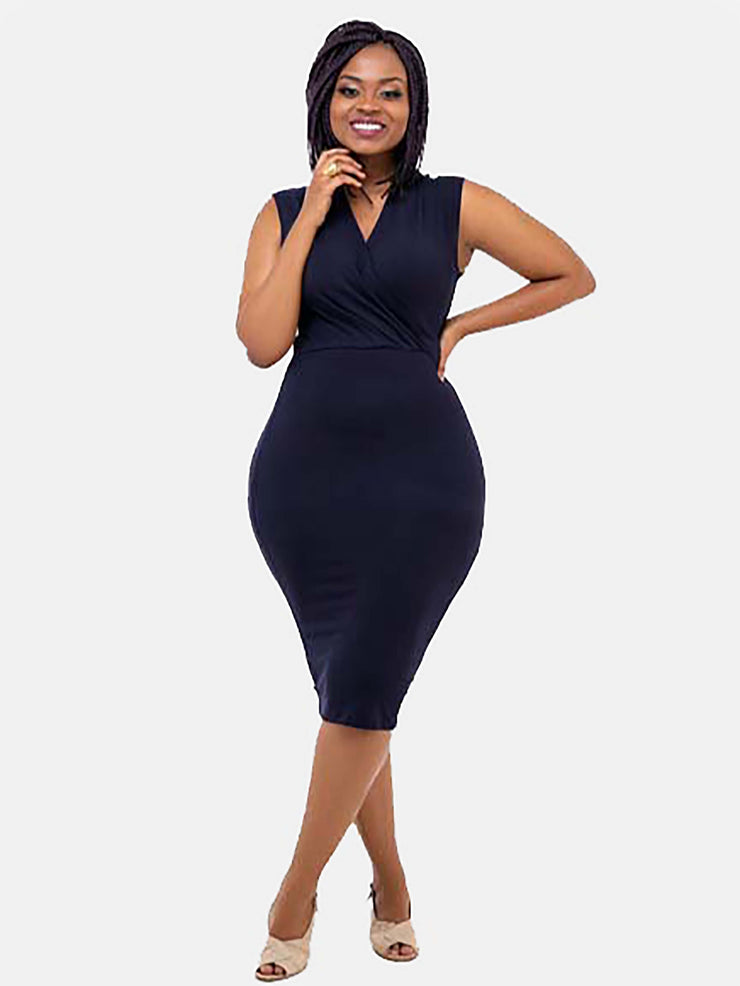 Vivo Sleeveless Abby Bodycon - Navy Blue