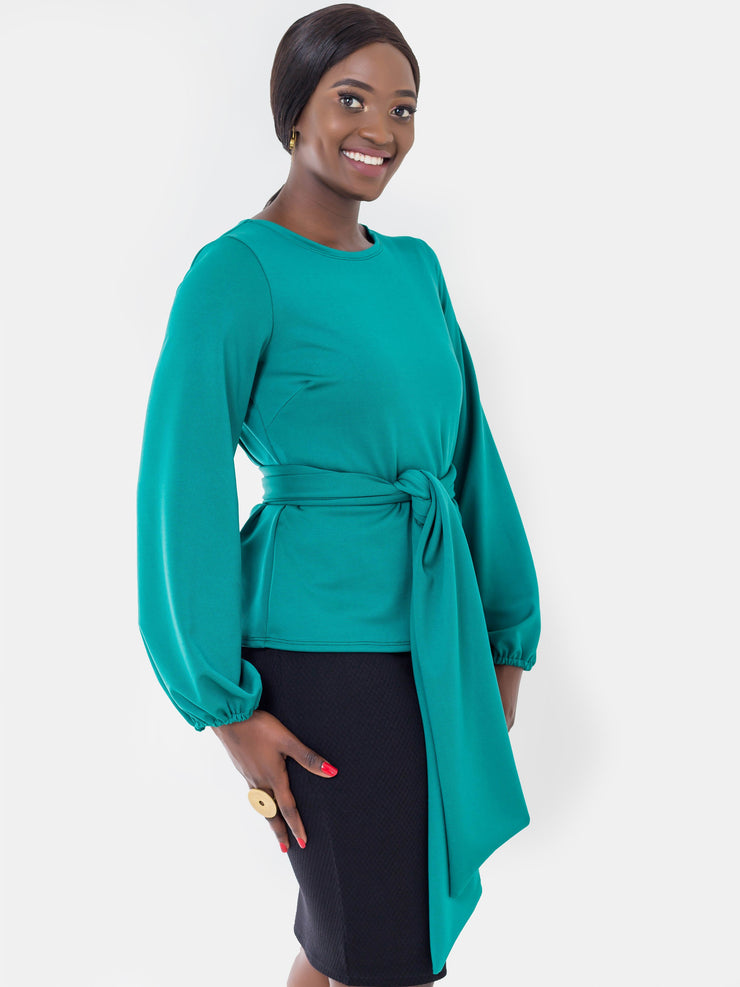 Vivo Nova Bishop Sleeve Top - Teal