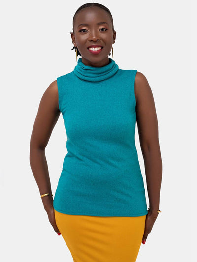 Vivo Basic Turtle neck Top - Sea Green