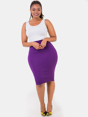 Vivo Panelled Pencil Skirt - Purple