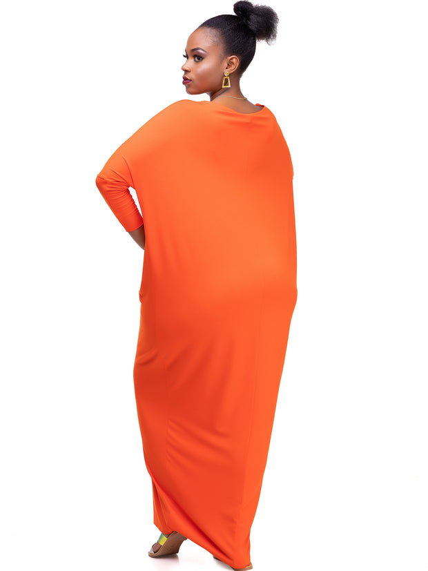 Sowairina Lea Maternity Maxi Kaftan - Orange